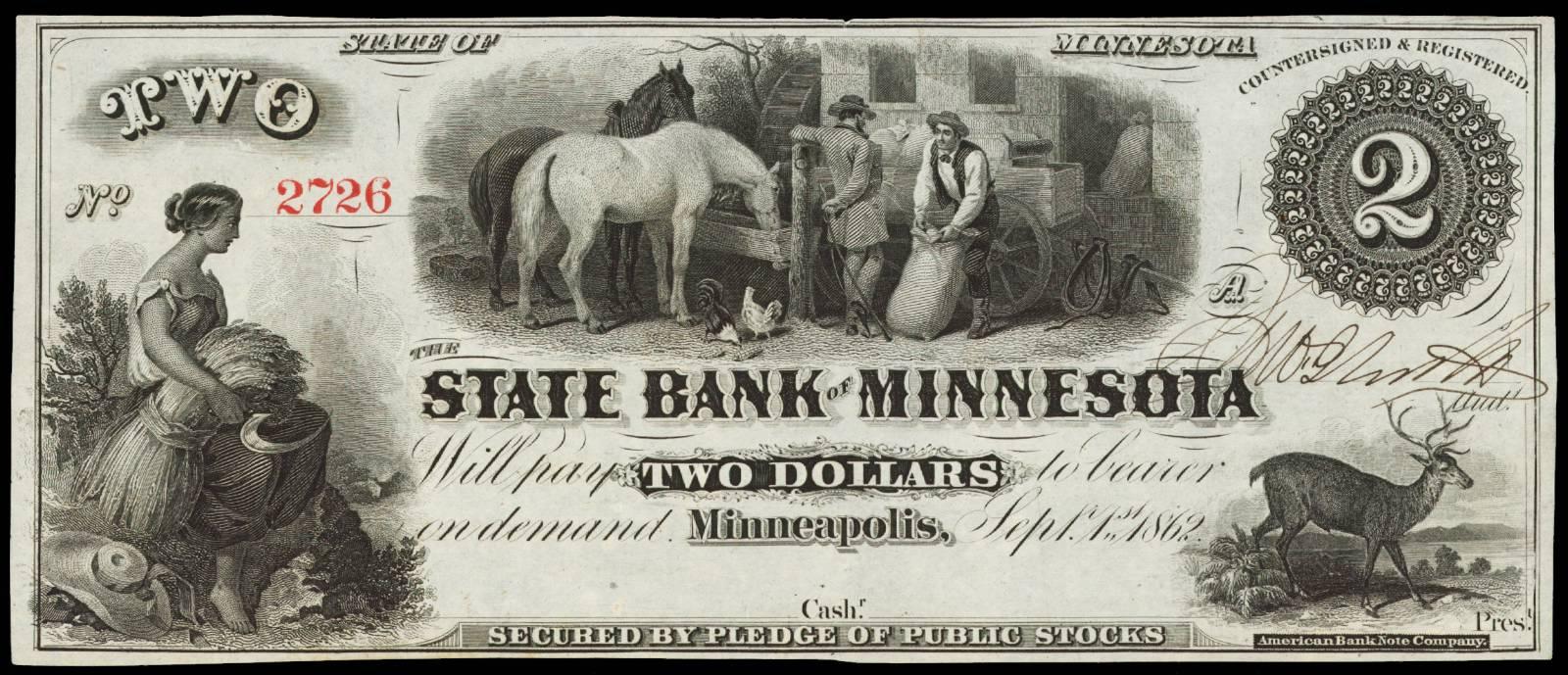 $2 State Bank of Minnesota