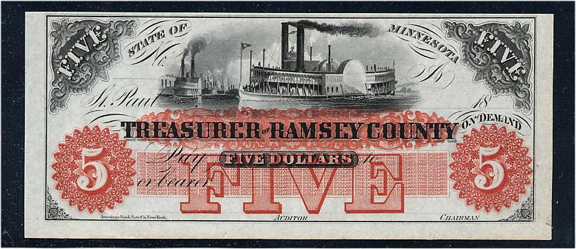 $5 Treasurer of Ramsey County