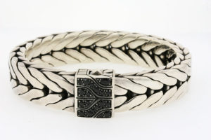 Sterling 18k gold bangle bracelet