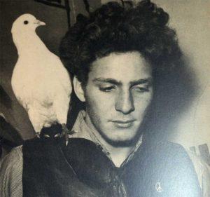 David Yurman with his Pet Pigeon