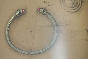 Yurman first cable bracelet drawing