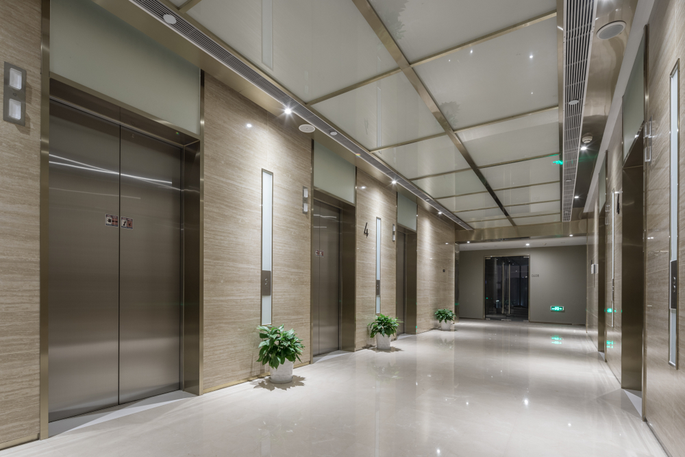 Elevator,Room,In,Modern,Office,Building