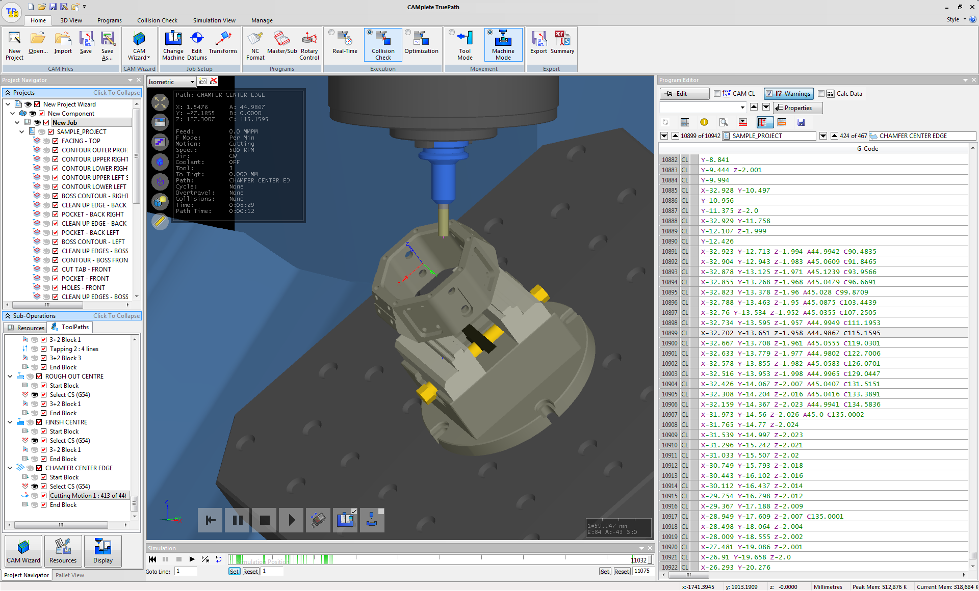 5 Axis Verification and Simulation