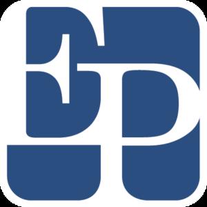 Ezra-Penland-Logo-(Blue)-w-Border-BG-(White)