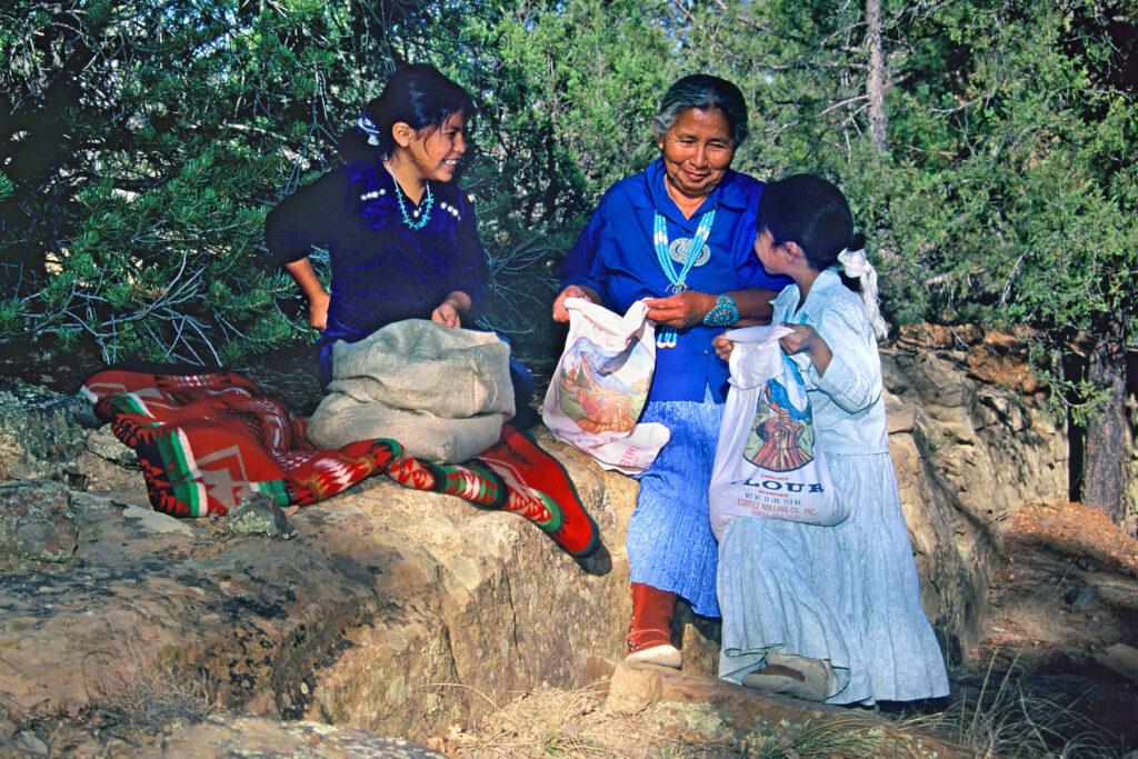 Gathering Pinons with Grandma-crop-3
