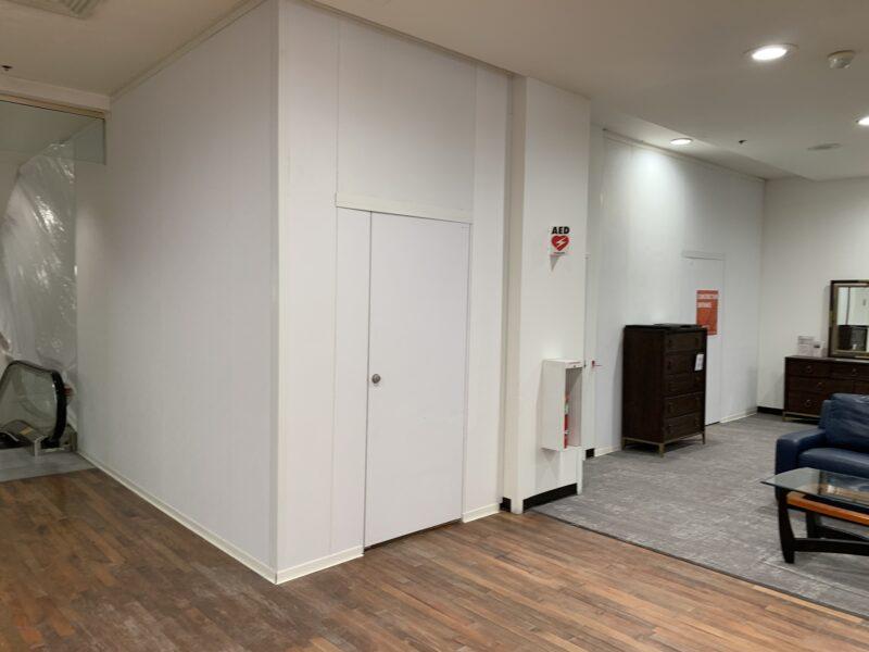 Retail Temporary Construction Wall