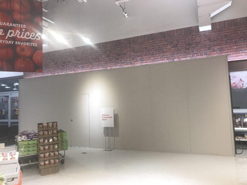 Supermarket Temporary Construction Wall