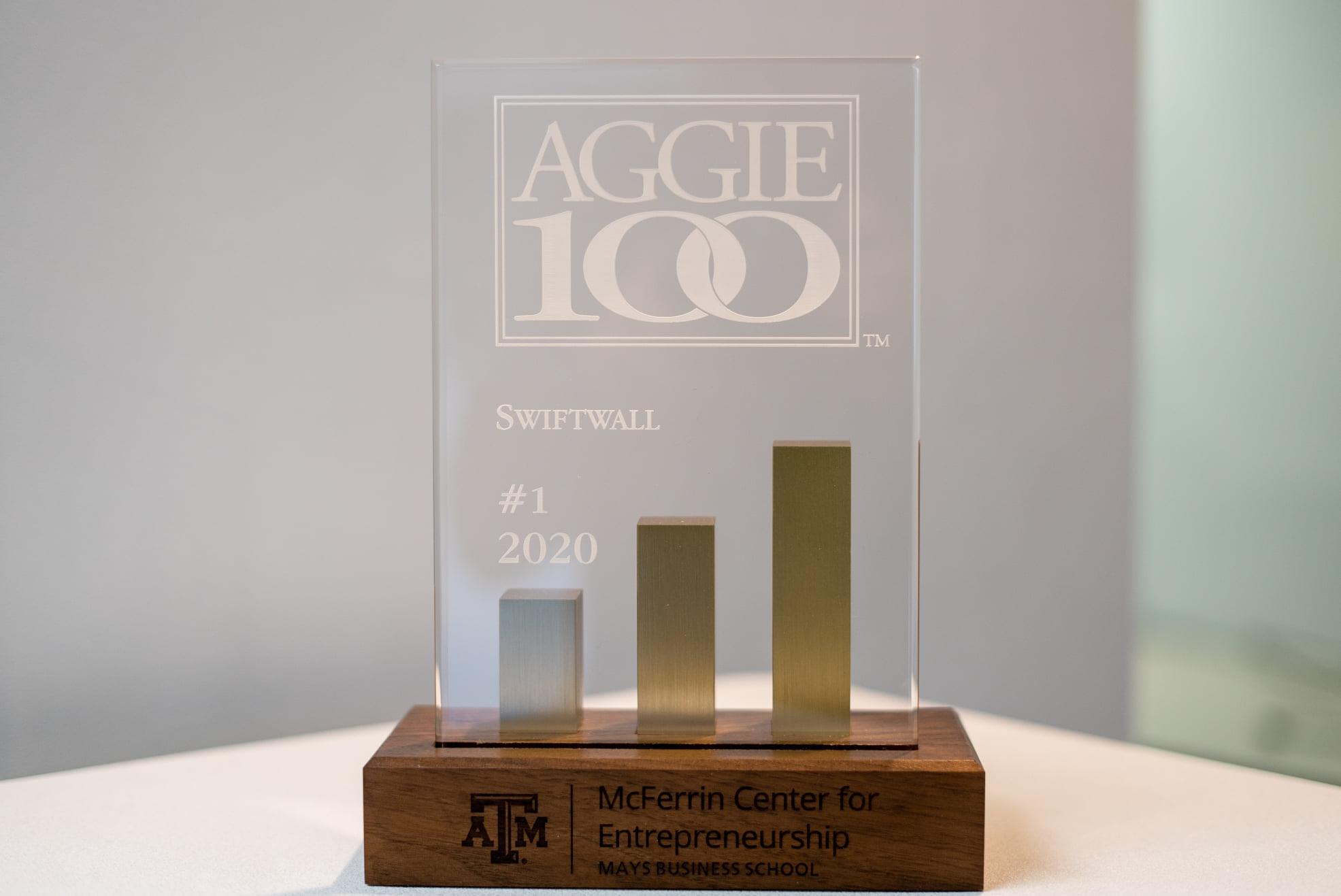 Swiftwall Aggie 100 Award