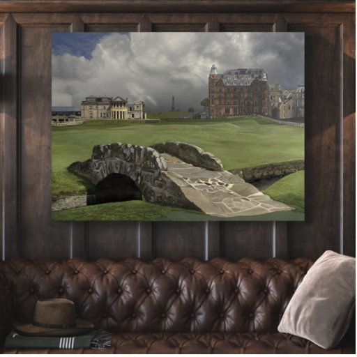 St. Andrews Golf Link Painting, Aimee Smith Studios