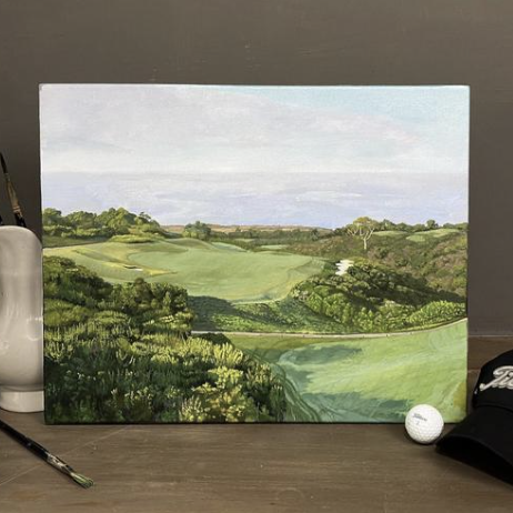 No. 18 at the Ocean South Course at Pelican Hill Golf Club, Aimee Smith Studios