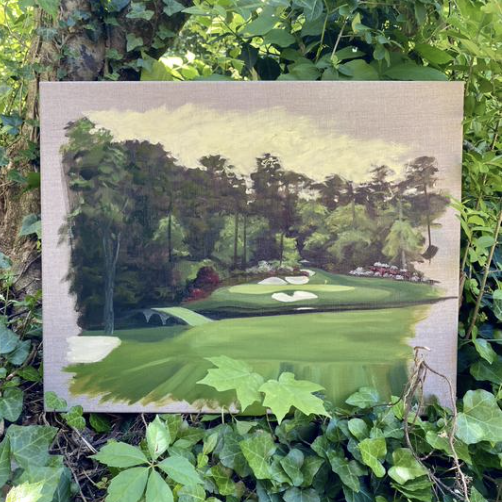 No. 12 at Augusta National painting, Aimee Smith Studios