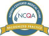 Blue and orange NCQA seal recognized practice
