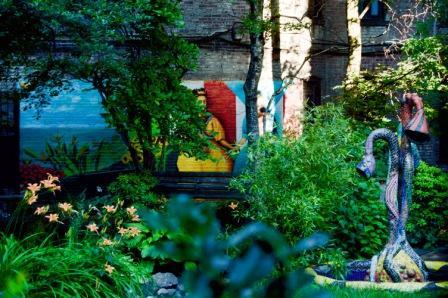 Hermoso mural en el parque de Spanish Harlem
