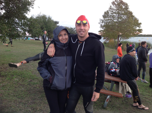 Mom and I before 2015 Ironman Austin 70.3