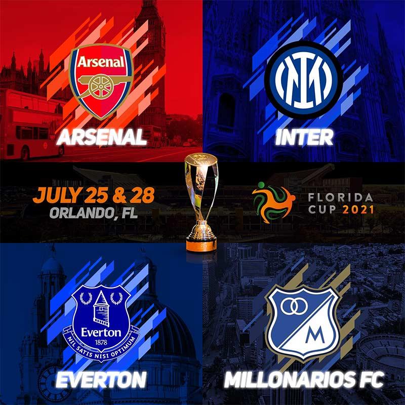 Florida Cup 2021: Edição deste ano terá Arsenal, Everton e Inter de Milão