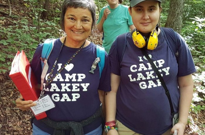 Two friends at autism camp