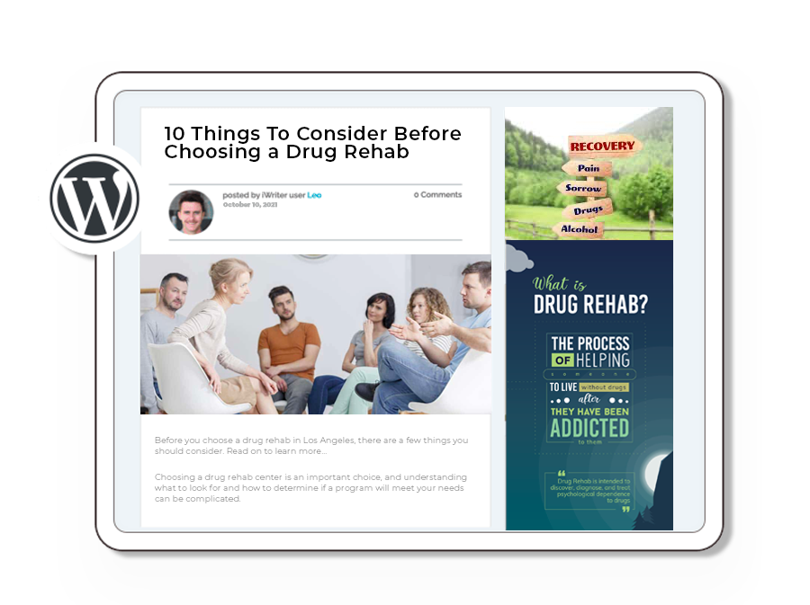 content marketing for drug rehabs