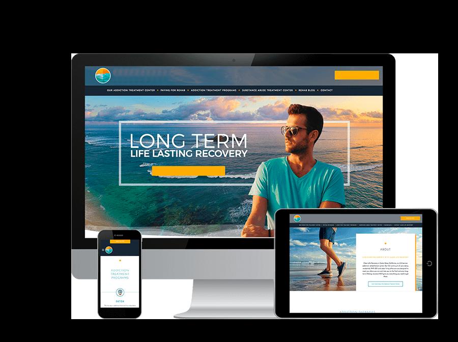 Website design for drug rehabs