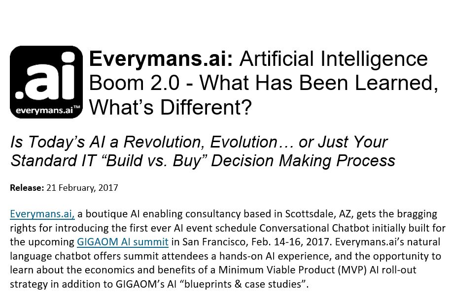 Artificial Intelligence Boom 2.0 – What's Different?