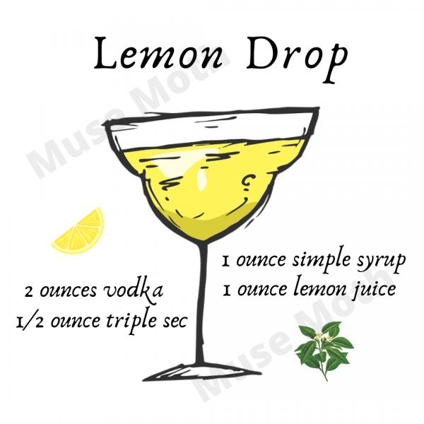 Lemon Drop: Ingredients Instagram Post