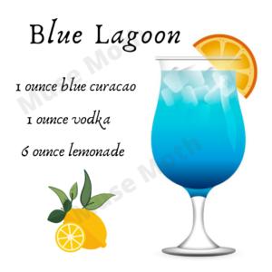 Blue Lagoon recipe Instagram post graphic