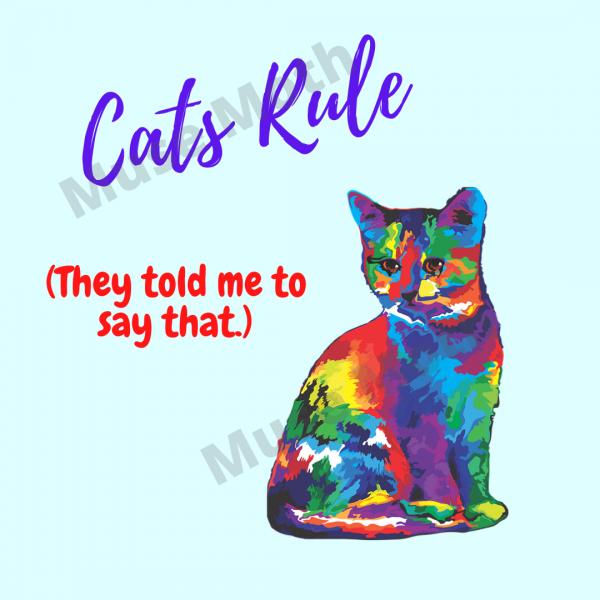 Cats Rule Blue Instagram Post