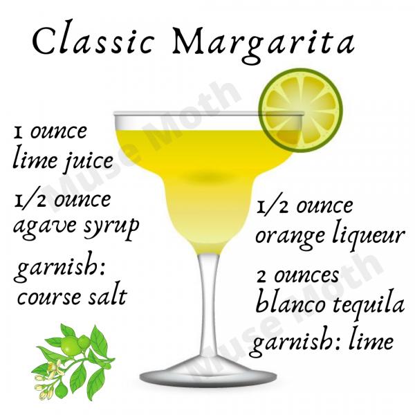 Classic Margarita Recipe Instagram post graphic