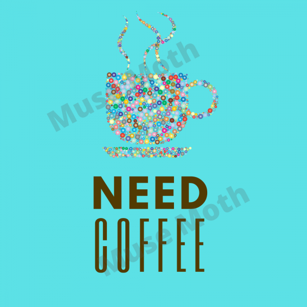 Need Coffee Blue Instagram post with watermark