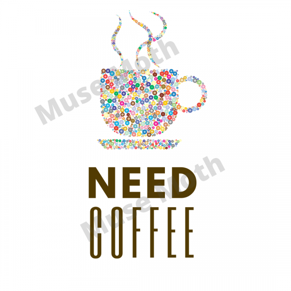 Need Coffee White Instagram post with watermark