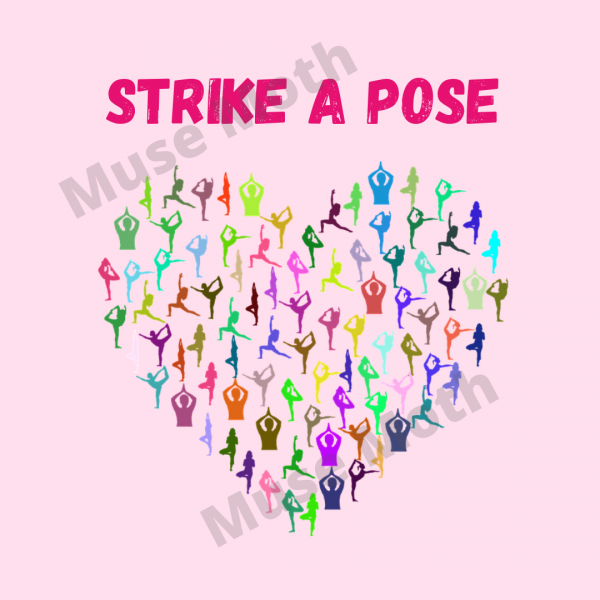 Strike a Pose Yoga Instagram pink with watermark