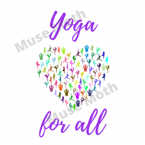 Yoga For All Purple Font Instagram post with watermark