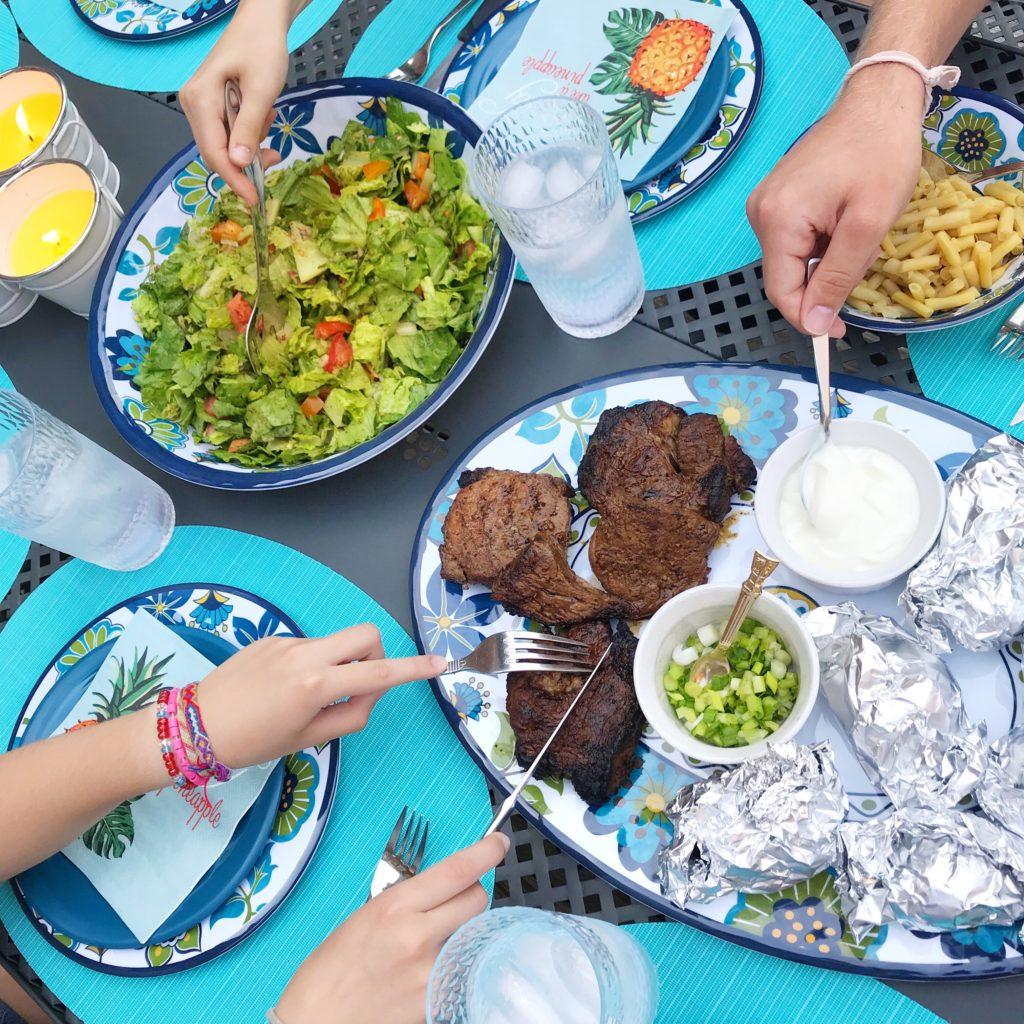 Simple Steak Dinner on Tableware from Kitchen Stuff Plus