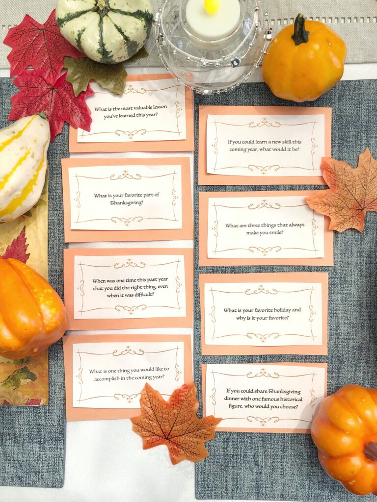 Thanksgiving Questions On Gratefulness