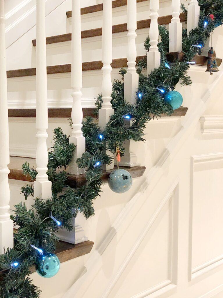 Christmas banister