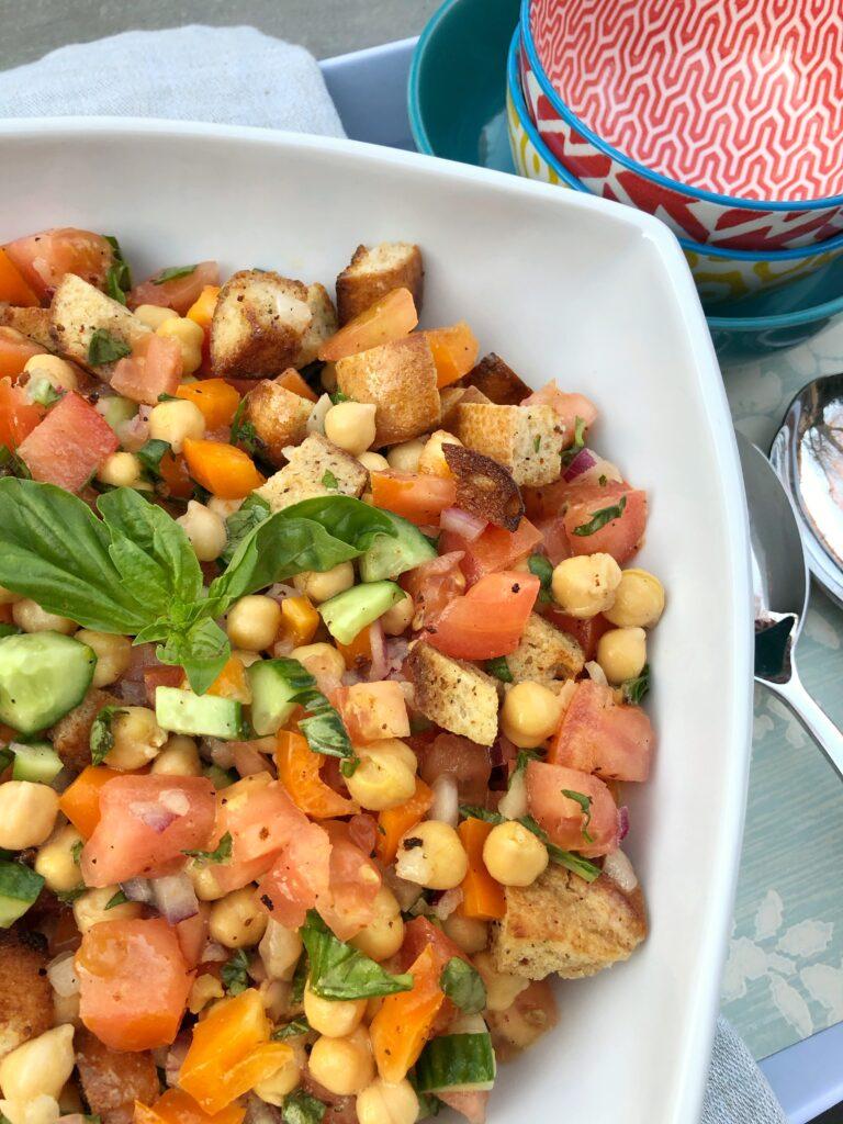 Panzanella Salad With Chick Peas