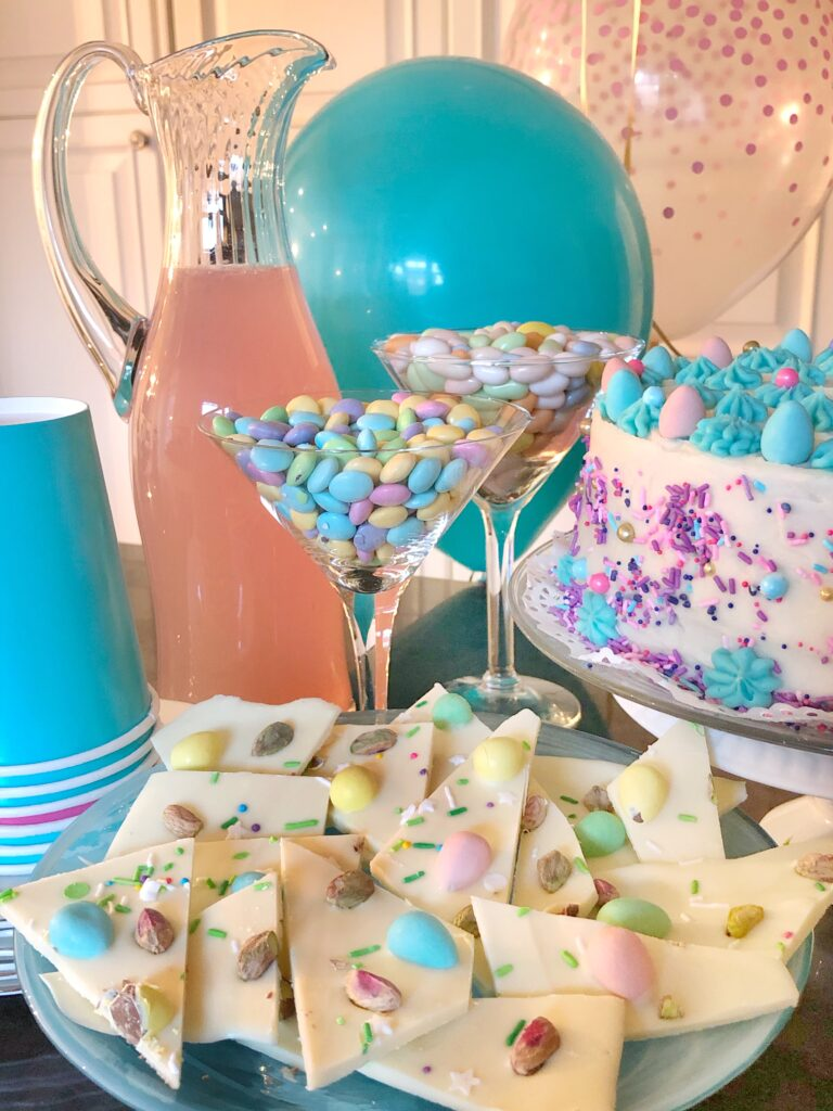 Easter Brunch With Carrot Cake & White Chocolate Bark