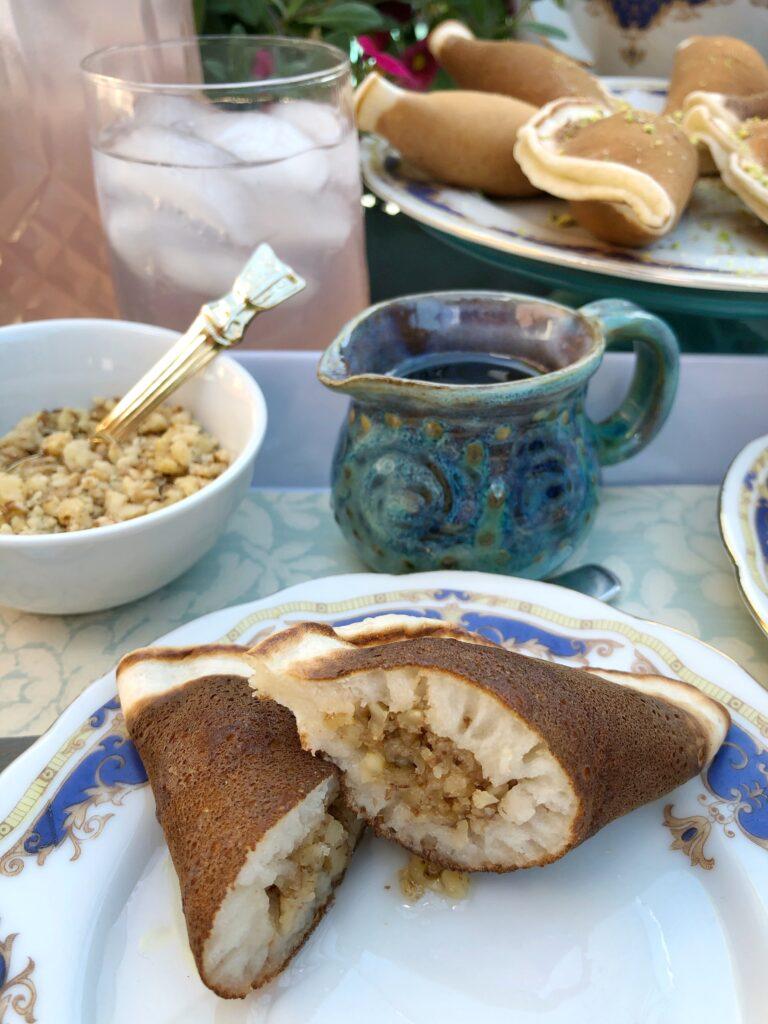Qatayef Stuffed With Crushed Walnuts