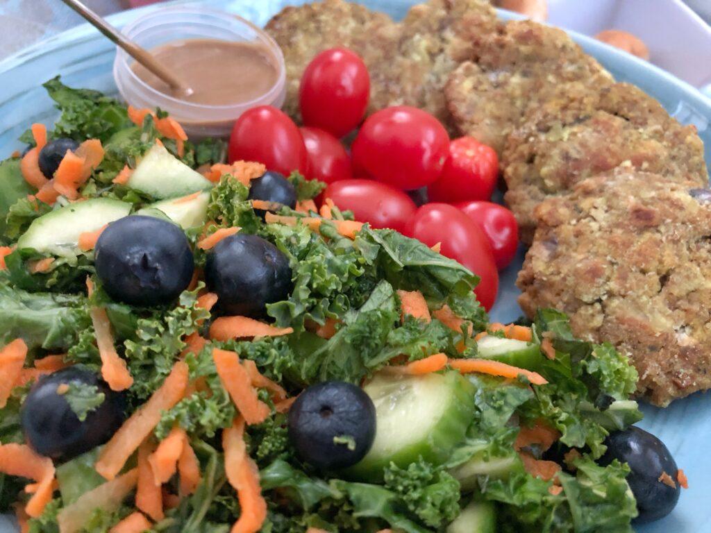 Kale Salad With Tamari/Tahini Sauce