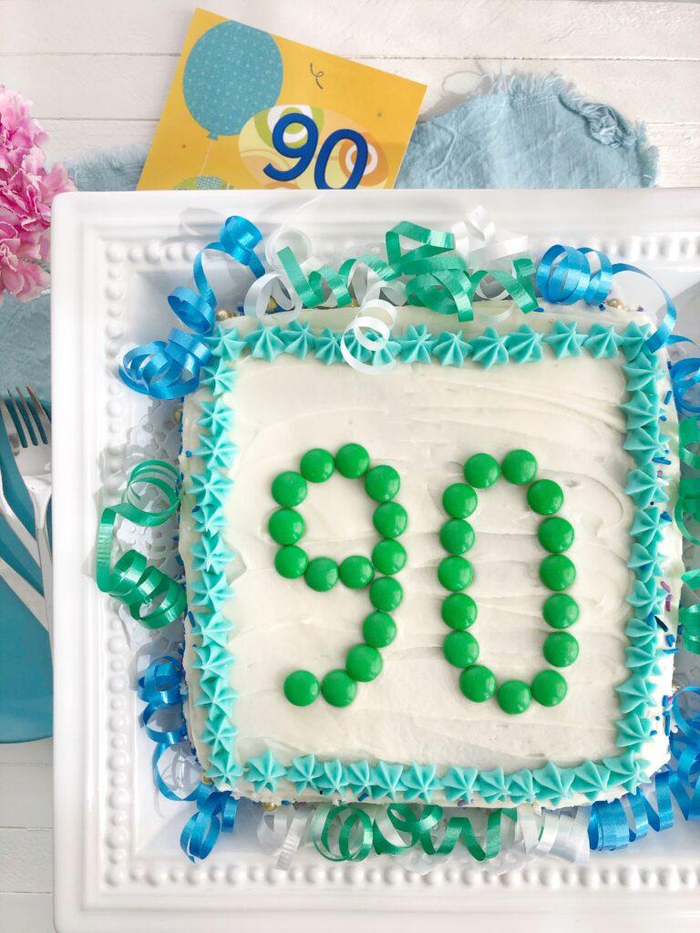 90th Birthday Cake - Fudge Brownies