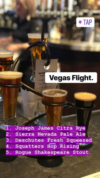 Beer Travels - Las Vegas - Tap Flight