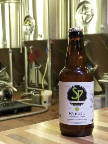 Kveik 1 is the first of three beers Shades Brewing brewed using kveik yeast. It's an award-winning golden sour ale with notes of grape.