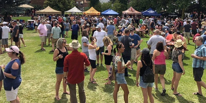 About 20 breweries from primarily Wyoming, Utah, and Colorado poured at the 10th Annual Evanston Brewfest on July 21, 2018.