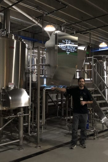 T.F. Brewing owner and brewmaster Kevin Templin.