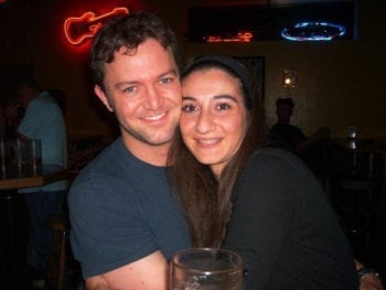Ryan and Leza, about a month after they met, in 2007.