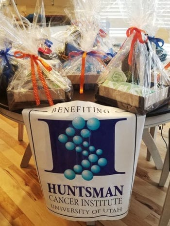 Gift baskets will be raffled off as part of the Huntsman Heroes Pints for a Purpose events in January.