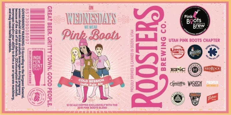 Roosters Brewing - Pink Boots Society 2 - Utah Beer News