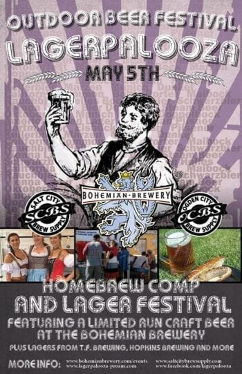 The 5th Annual Lagerpalooza beer competition and outdoor festival takes place May 5, 2019 at Bohemian Brewery in Midvale, Utah.