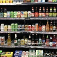 Shelves of 4% craft beer at Harmons grocery store in October 2019. A new law went into effect on Nov. 1, 2019, that allows for Utah retailers to sell beer containing up to 5% alcohol by volume.