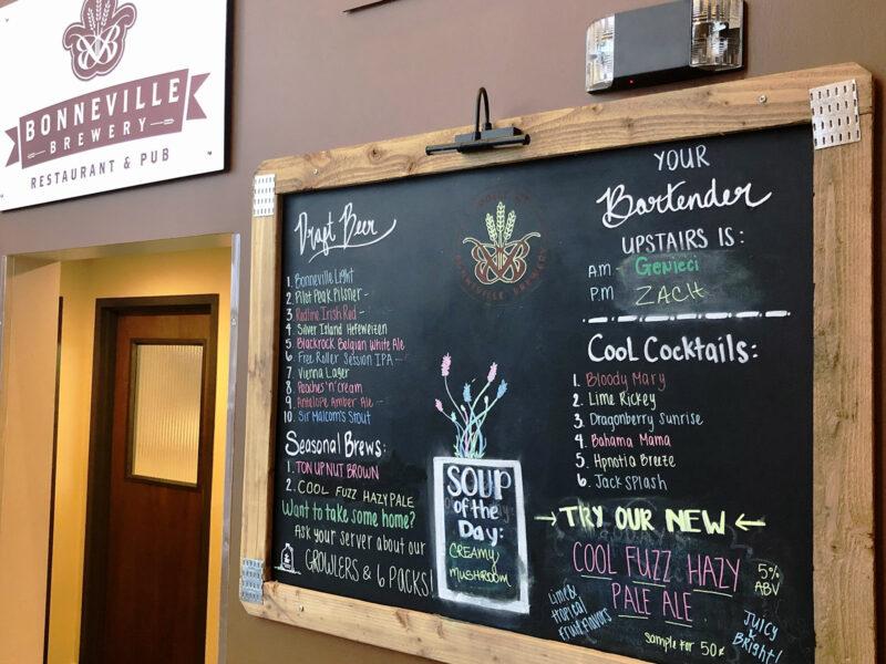 Bonneville Brewery - Menu Board - Utah Beer News
