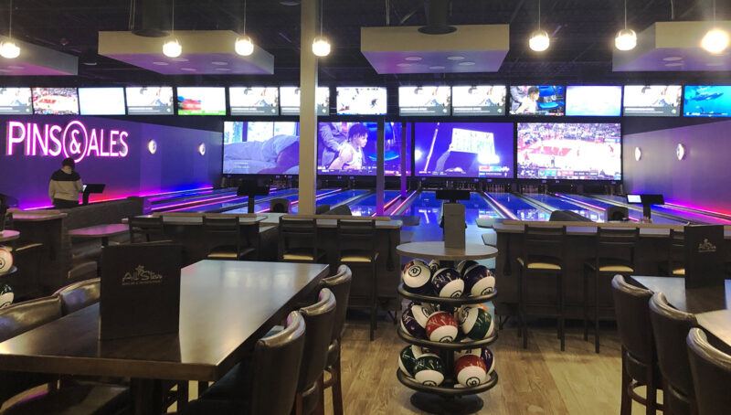 Bonneville beers are available on tap at several Pins & Ales locations, including this one in West Valley. The establishments are part of the All Star Bowling & Entertainment centers.